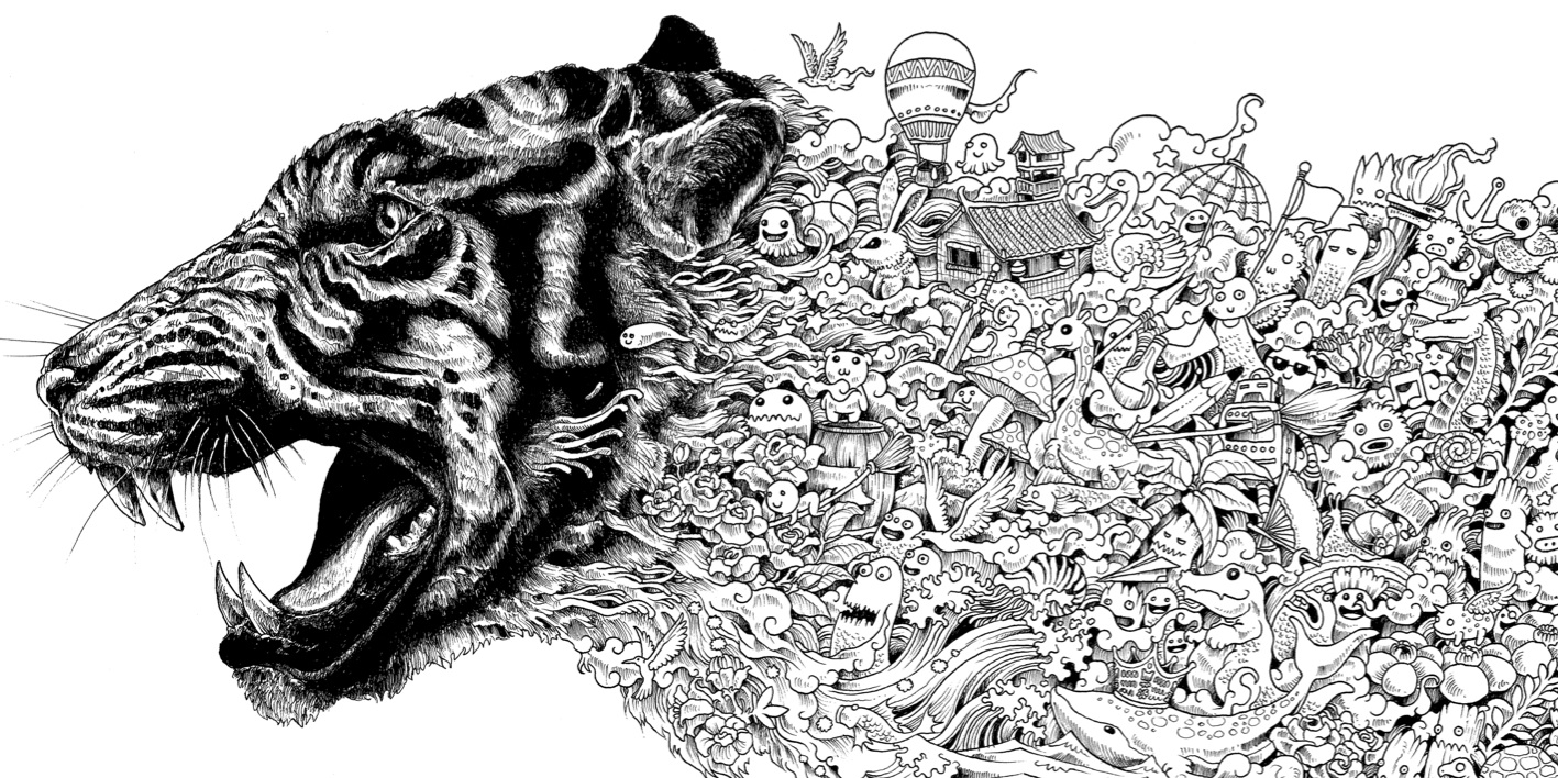 Advanced Tiger Coloring Pages : �ver bilder om coloring pages animals p� pinterest